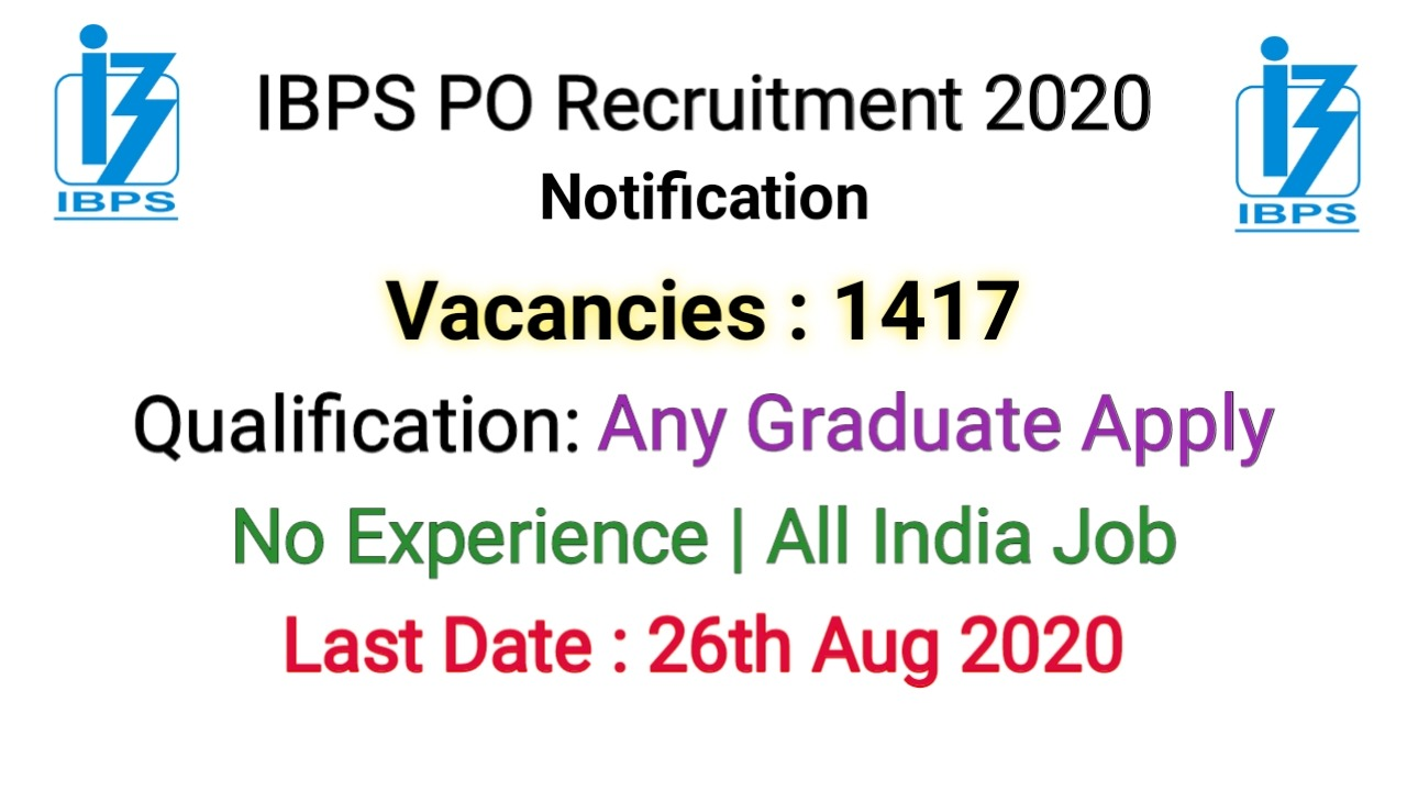 IBPS PO Recruitment 2020
