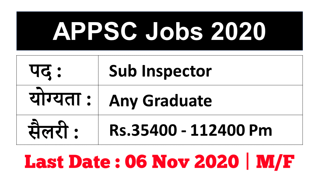 Arunachal Pradesh PSC SI Recruitment 2020
