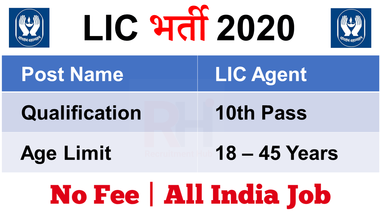 LIC Agent Recruitment 2020