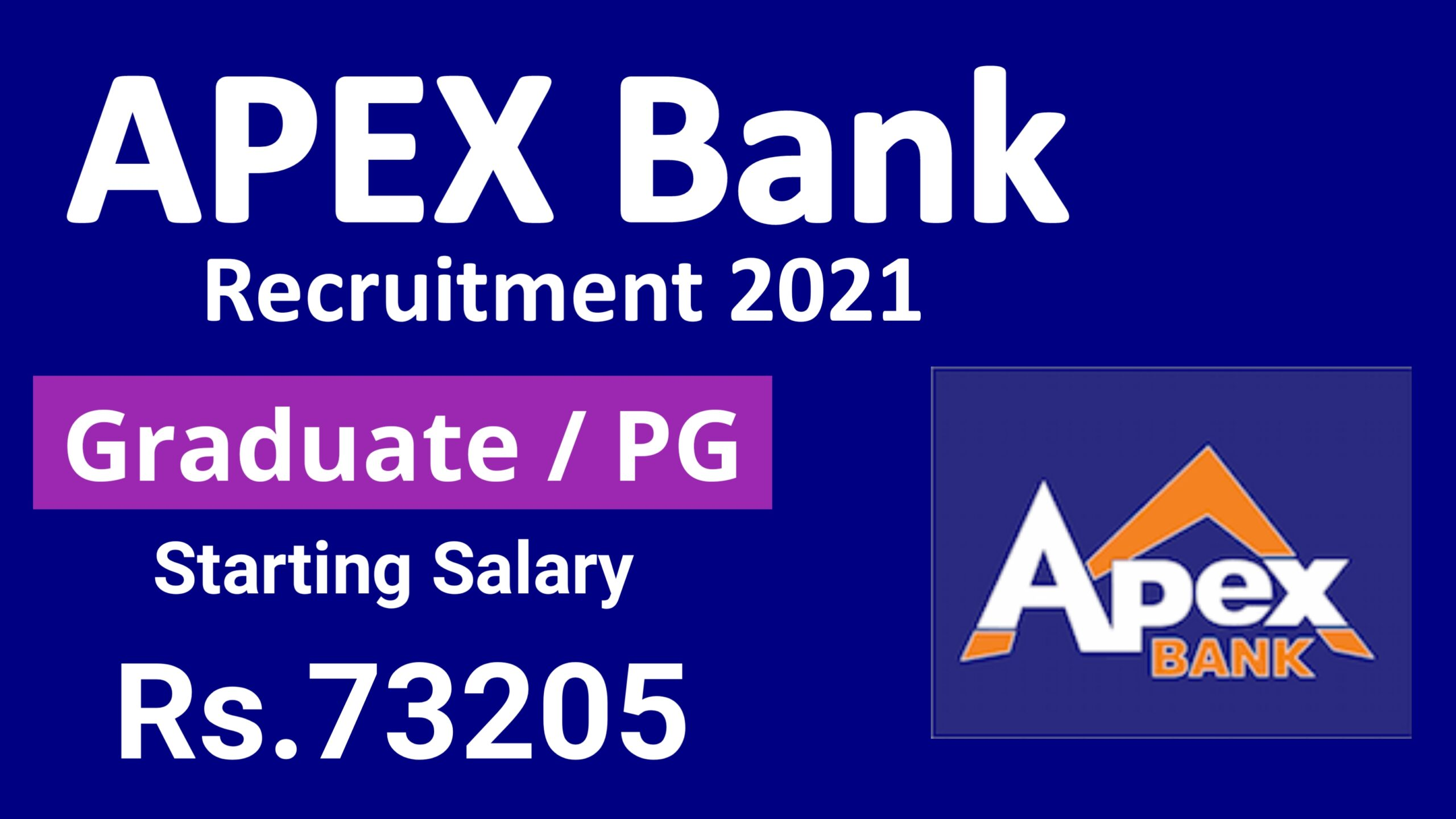 APEX Bank Officer Recruitment 2021