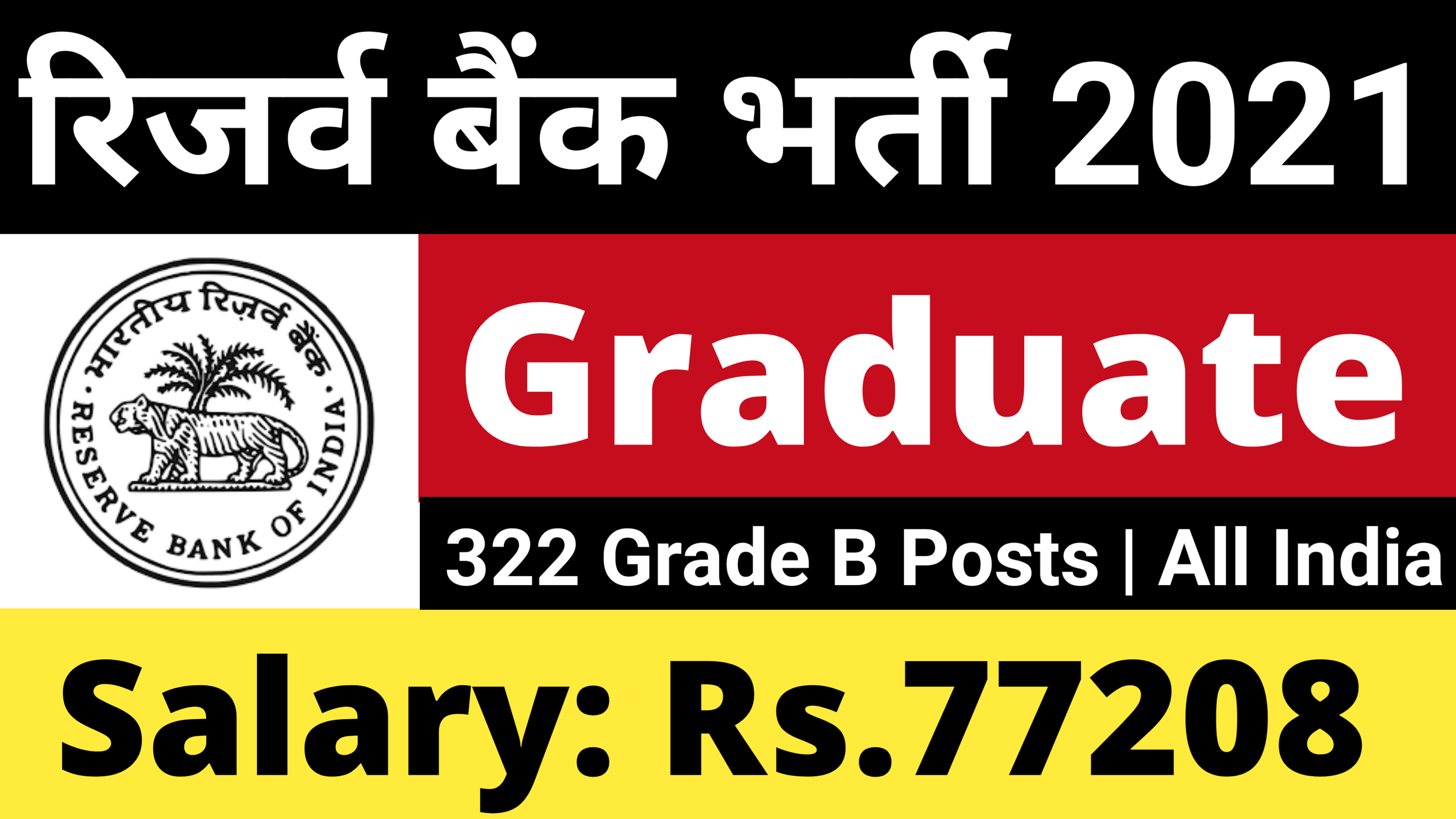 RBI Grade B Recruitment 2021